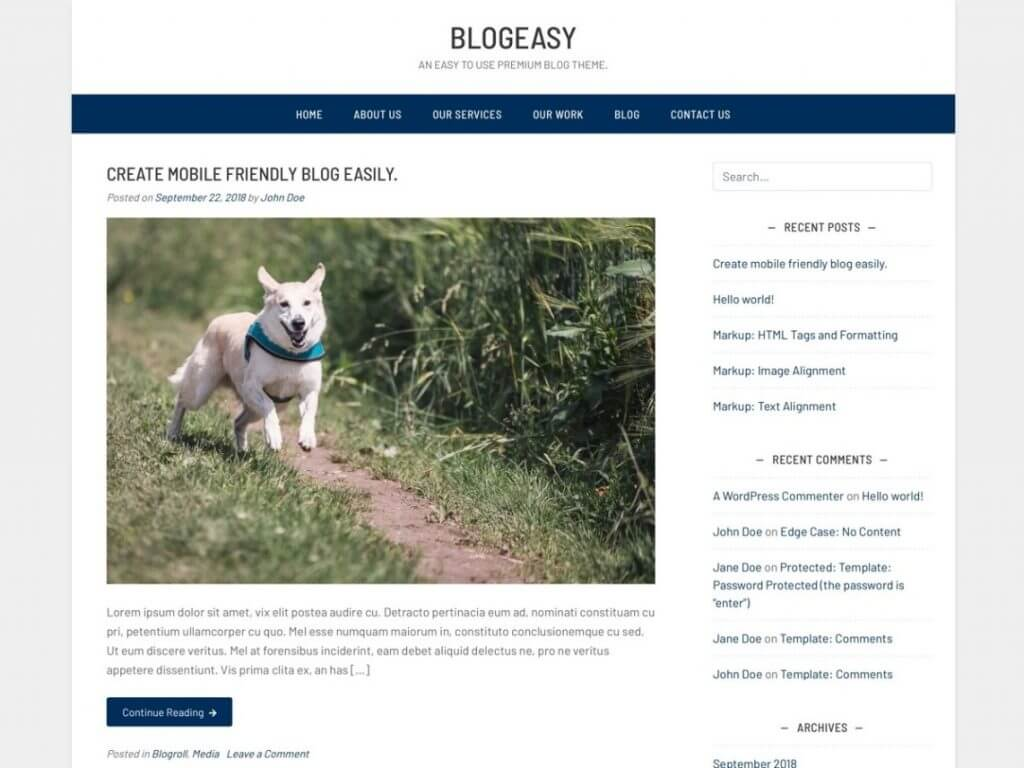 Blogeasy WordPress Theme